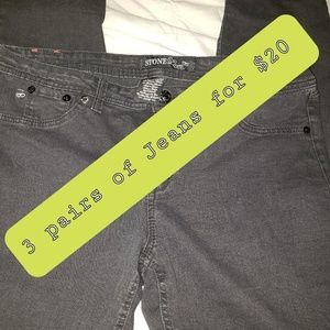 JEANS 3 PAIRS FOR $20 MUST BE MARKED